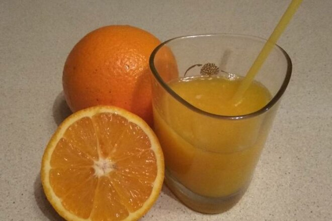 Апельсиновый фреш с имбирем