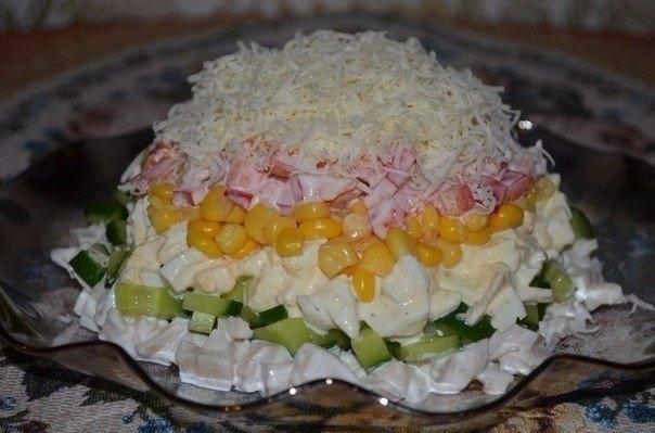 Салат с кальмарами (145 ккал/100 гр)