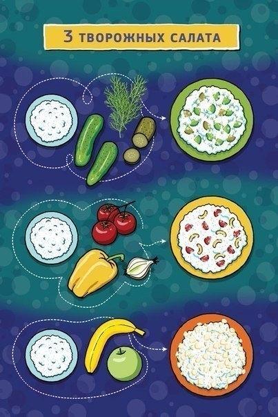 3 творожных салата