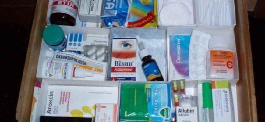Грамотная аптечка дома