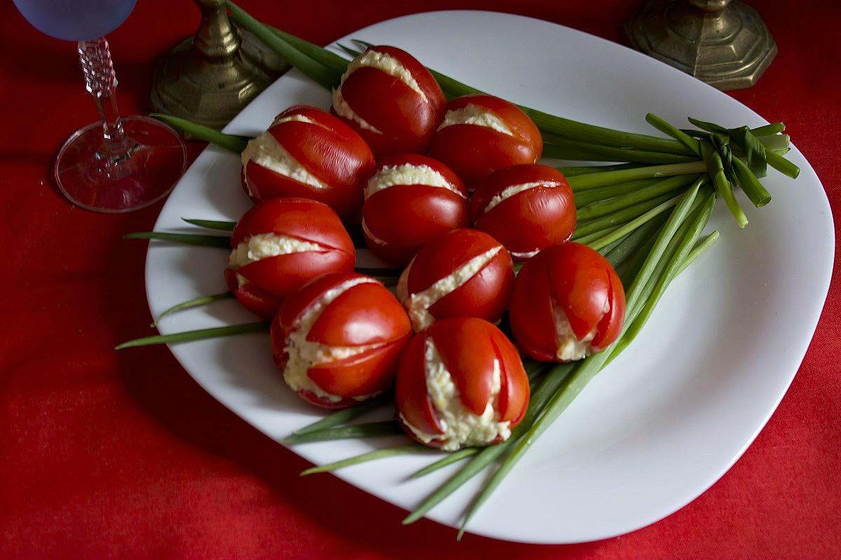 Холодные закуски рецепты с фото тюльпаны