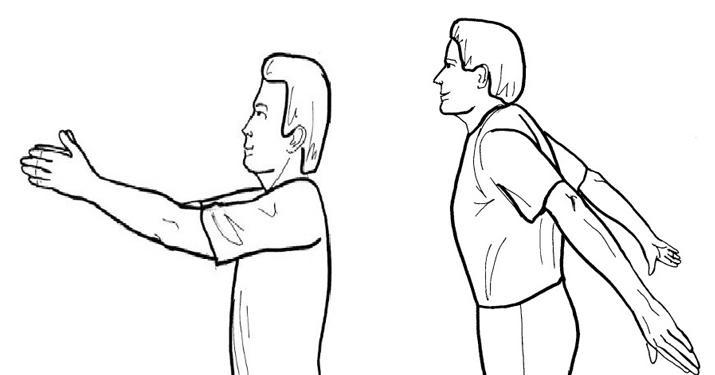 Упражнение «целебные махи руками»