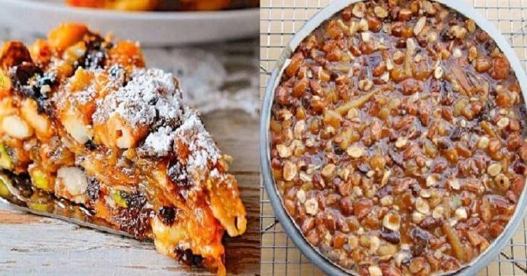 Великолепное итальянское лакомство — «Панфорте». В нем море орехов, сухофруктов и вкусных ягод!