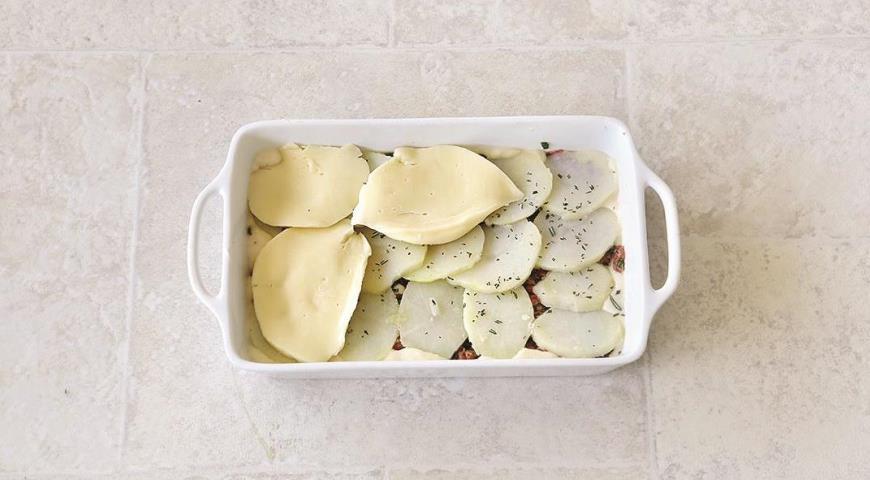 Лазанья со свининой и картофелем