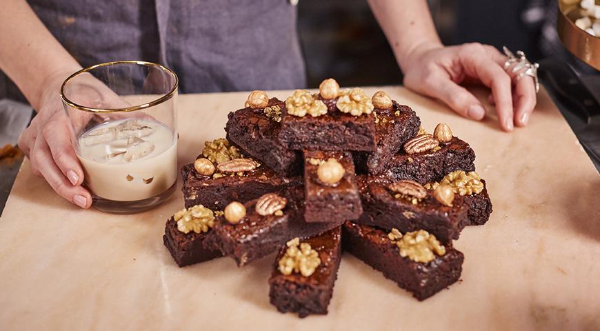 Брауни «Двойной шоколад с ликером»