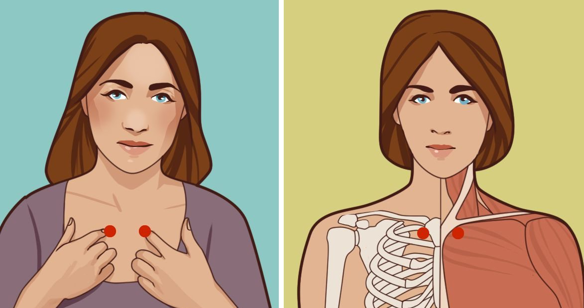 Волшебные точки акупрессуры от простуды и проблем с щитовидной железой