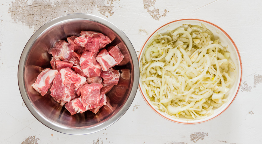 Шашлык из свинины с винным уксусом