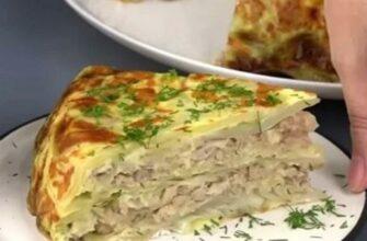 Вкуснейшая капустная слоенка по рецепту бабушки. В 1000 раз лучше голубцов!