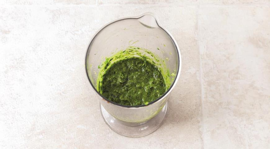 Суп из печеных овощей с зеленью